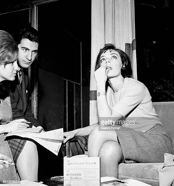 French actress Marie Laforet during a press conference Madrid Spain