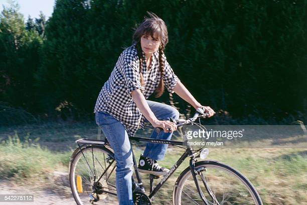 French actress Marie Trintignant in her Uzes home