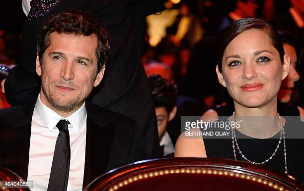 French actress Marion Cotillard and her partner French actor Guillaume Canet attend the 40th edition of the Cesar Awards ceremony on February 20 2015...