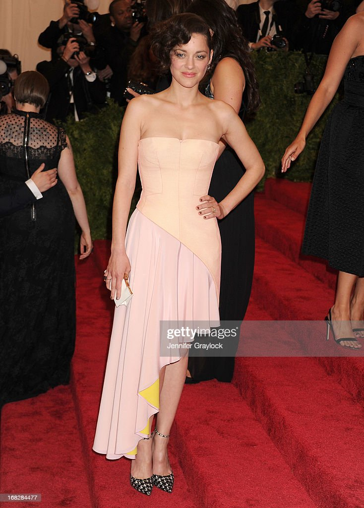 French Actress Marion Cotillard attends the Costume Institute Gala for the 'PUNK: Chaos to Couture' exhibition at the Metropolitan Museum of Art on May 6, 2013 in New York City.