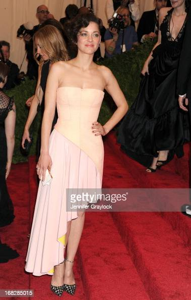 French Actress Marion Cotillard attends the Costume Institute Gala for the 'PUNK Chaos to Couture' exhibition at the Metropolitan Museum of Art on...