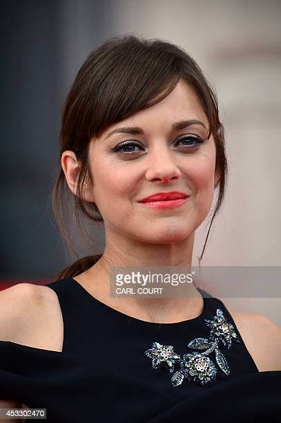 French actress Marion Cotillard attends the UK premiere of her film Two Days One Night in central London on August 7 2014 AFP PHOTO / CARL COURT