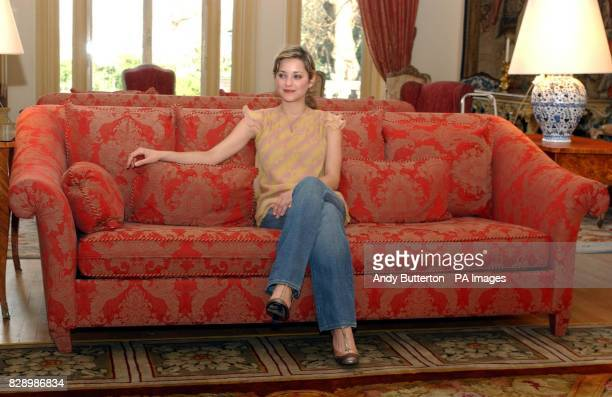 French actress Marion Cotillard during a photocall to launch the 2004 Renault French Film Season at the French Ambassador's Residence in Kensington...