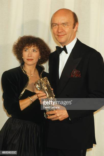 French actress Marlene Jobert and director JeanPaul Rappeneau during the Cesar Awards for French cinema JeanPaul Rappeneau won Best Director for his...