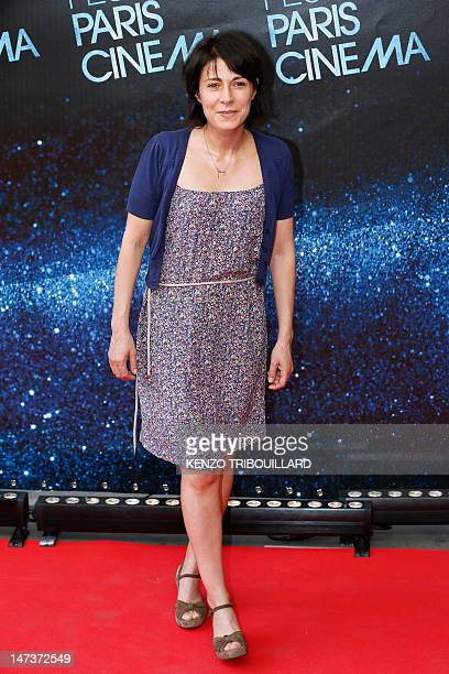 French actress Maryline Canto poses during the opening ceremony of the Paris Cinema Festival prior to the premiere of 'Holy Motos' on June 28 2012 in...