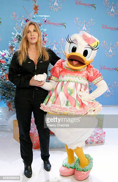 French actress Mathilde Seigner attends the Christmas season launch at Disneyland Paris on November 15 2014 in Paris France