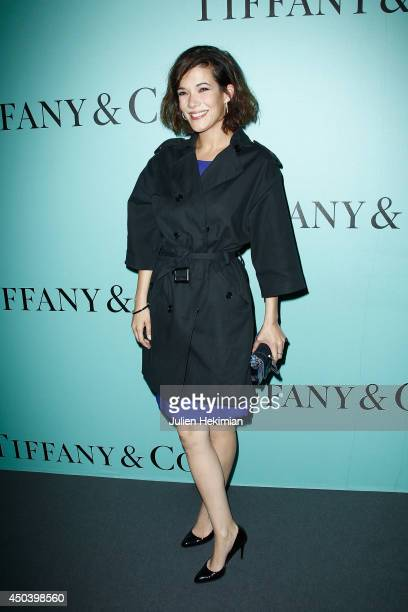 French actress Melanie Doutey attends the Tiffany Co Flagship Opening on the Champs Elysee on June 10 2014 in Paris France