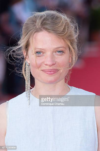 French Actress Melanie Thierry attends the closing ceremony of the 29th Cabourg Film Festival on June 13 2015 in Cabourg France