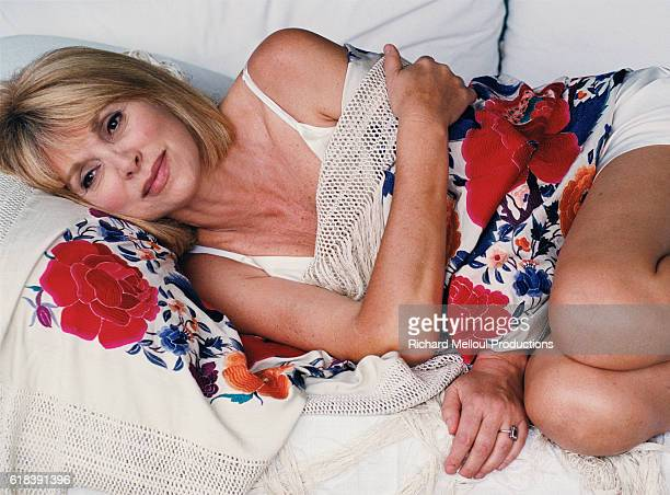 French actress Mireille Darc in Marrakech