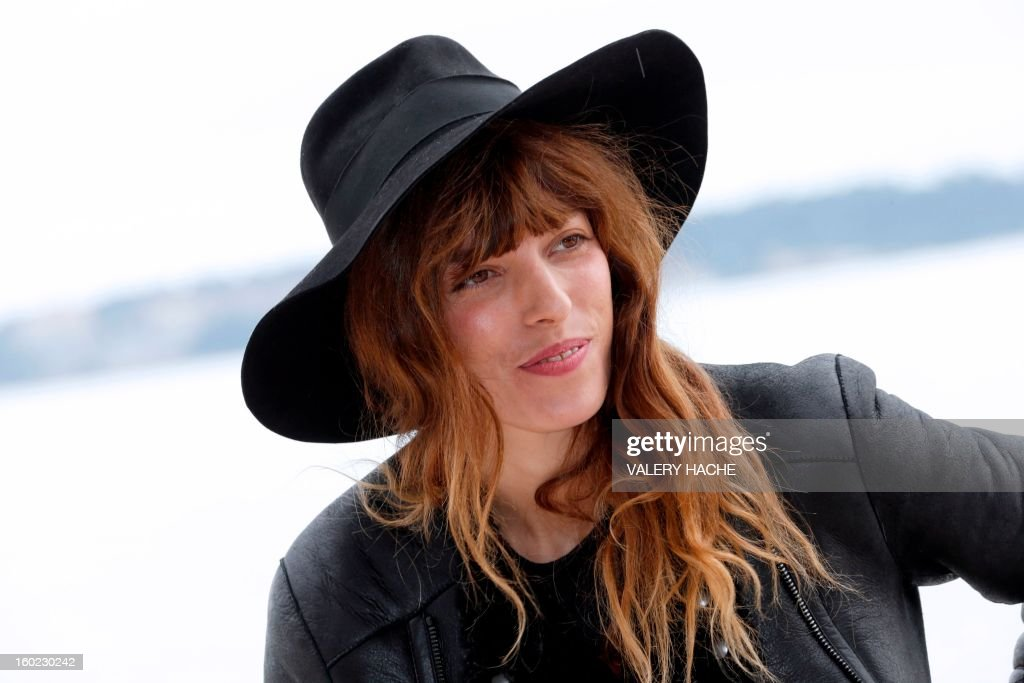 French actress, model and musician Lou Doillon poses during a photocall as part of the music world's largest annual trade fair, Midem, on January 28, 2013 in Cannes, southeastern France. The Midem music trade show will bring 7,000 of the global industry's biggest players together on the French Riviera for four days.