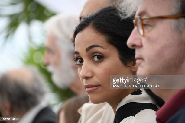 French actress Nabiha Akkari poses on May 22 2017 during a photocall for the film 'Happy End' at the 70th edition of the Cannes Film Festival in...