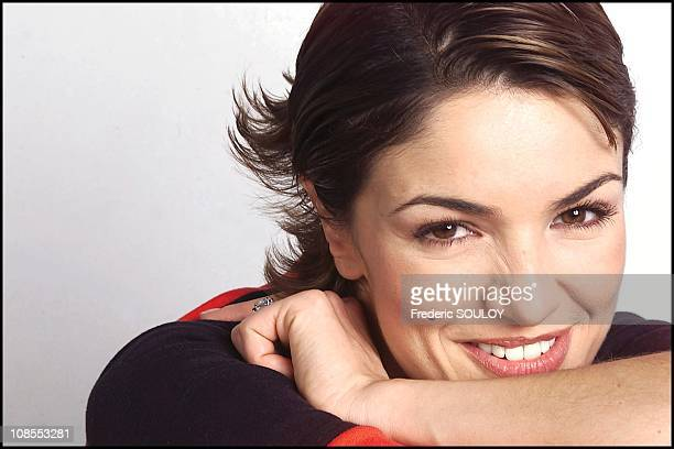 French actress Nadia Fares in Paris France on February 08 2002