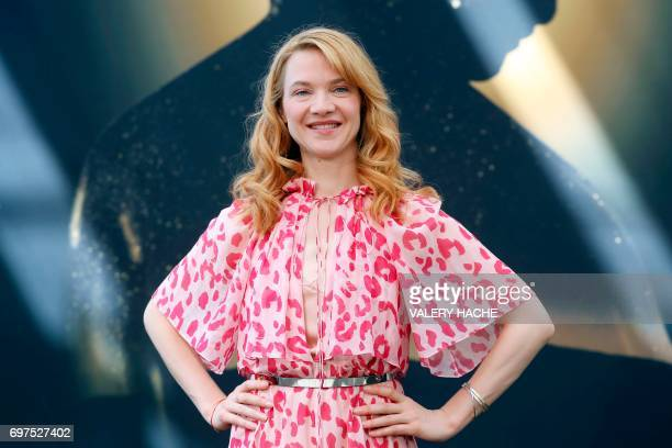 French actress Odile Vuillemin poses during a photocall as part of the 57th MonteCarlo Television Festival on June 19 2017 in Monaco The MonteCarlo...