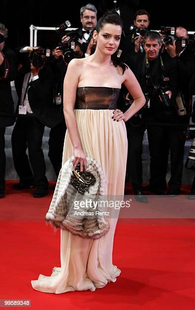 French actress Roxane Mesquida attends the 'Kaboom' Premiere at the Palais des Festivals during the 63rd Annual Cannes Film Festival on May 15 2010...
