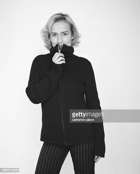 French actress Sandrine Bonnaire for the photographic series 'Personne Personnage'