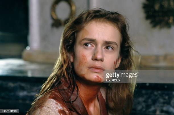 French actress Sandrine Bonnaire on the set of the film Sous le Soleil de Satan directed by Maurice Pialat The film went on to win the Palme D'Or at...