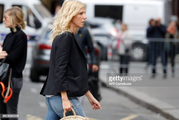 French actress Sandrine Kiberlain arrives to attend the funeral of late French actor Jean Rochefort at the SaintThomas d'Aquin church on October 13...