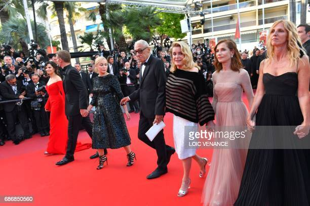 French actress Sandrine Kiberlain French actress Isabelle Huppert French actress Catherine Deneuve French director Andre Techine French actress...