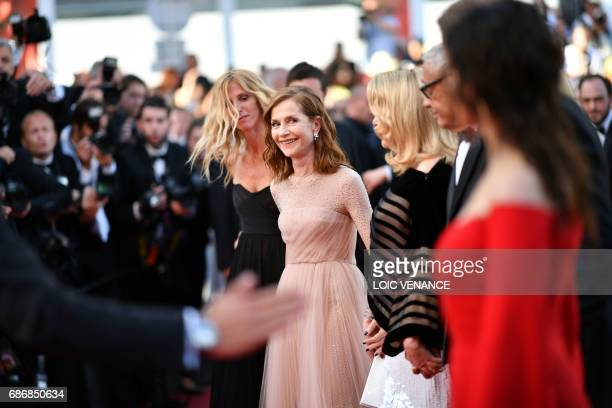 French actress Sandrine Kiberlain French actress Isabelle Huppert French actress Catherine Deneuve French director Andre Techine and French actress...