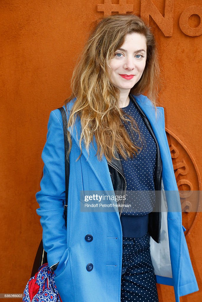 French actress Sarah Suco attends the French Tennis Open Day 8 at Roland Garros on May 29, 2016 in Paris, France.