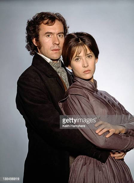 French actress Sophie Marceau as a Victorian governess and English actor Stephen Dillane as her employer in the film 'Firelight' 1997