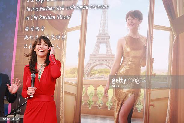 French actress Sophie Marceau attends The Parisian event on January 8 2017 in Macao China