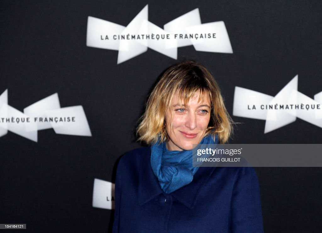French actress Valeria Bruni Tedeschi poses during a photocall prior to the premiere screening of the movie 'Amour', awarded the 2012 Cannes film festival Palme d'Or, on October 15, 2012 in Paris.