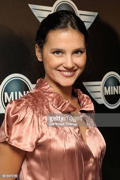 French actress Virginie Ledoyen attends the Mini Austin 50th Anniversary party at Piscine Molitor on September 29 2009 in Paris France