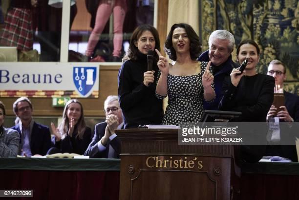 French actress Virginie Ledoyen French director Claude Lelouch Georgian pianist Khatia Buniatishvili and French actress Valerie Bonneton conduct the...
