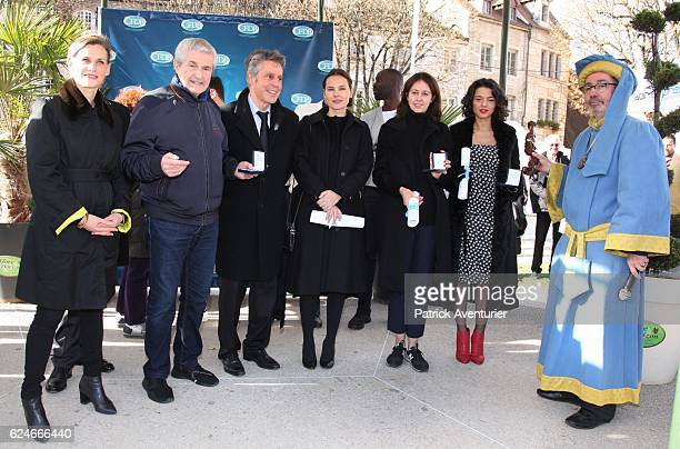 French actress Virginie Ledoyen French director Claude Lelouch Georgian pianist Khatia Buniatishvili and French actress Valerie Bonneton conduct the...