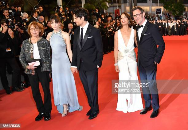 French actress/director and Swiss director JeanLuc Godard's exwife Anne Wiazemsky FrenchBritish actress Stacy Martin French actor Louis Garrel...