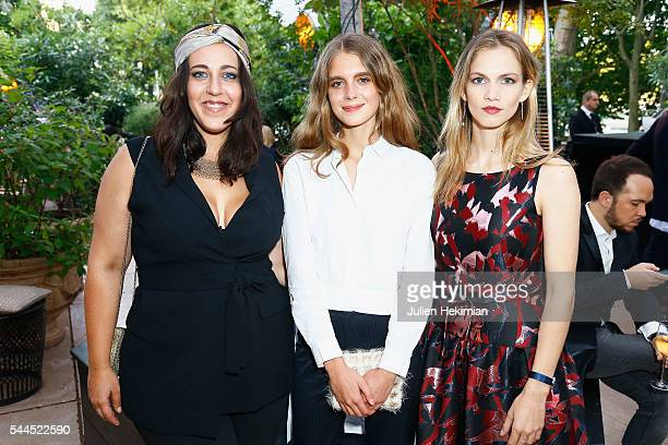 French actresses Alexandra Roth Dolores Doll and Margot Bancilhon attend the 'Cactus' Cartier Cocktail Party at Palais De Tokyo on July 2 2016 in...