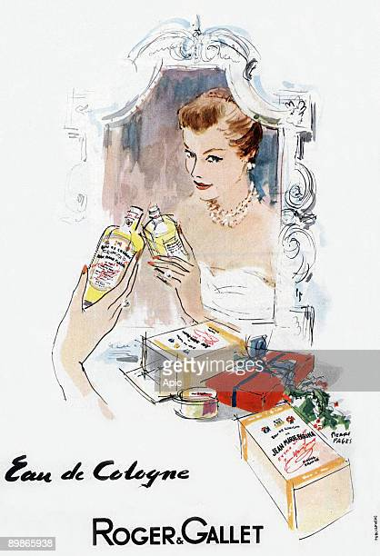 French advertisement by Pierre Pages for Roger et Gallet eau de Cologne 1953