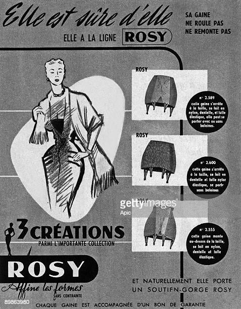 French advertisement for girdle by Rosy 1953