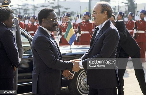 French African Summit in Casablanca Morocco on December 15 1988 Omar Bongo and King Hassan II
