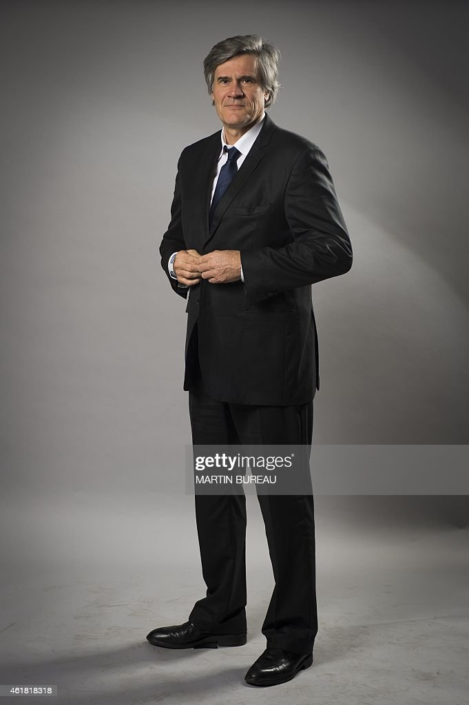 French Agriculture minister and Government spokesperson Stephane Le Foll, poses on January 19, 2015 in Paris, during a photocall for the 70th anniversary of the news agency Agence France Presse. AFP PHOTO MARTIN BUREAU