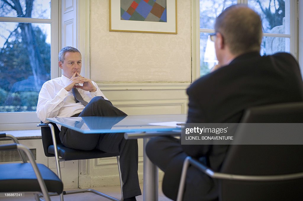 French Agriculture Minister Bruno Le Maire attends a meeting on