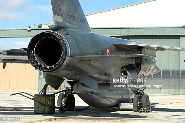 French Air Force Mirage F1CR close-up of engine exhaust.