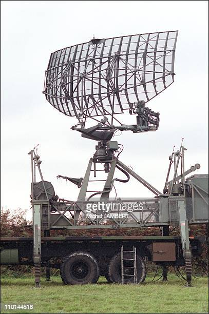 French Air Force sets up radar near the COGEMA nuclear plant in La Hague Cotentin France in October 2001 Groundtoair missiles will later be added for...