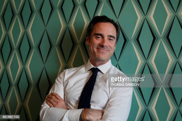 French Alexis de Gemini CEO of Deezer France poses in Paris on March 13 2017 Fnac and Deezer have entered into an alliance that aims to give a boost...