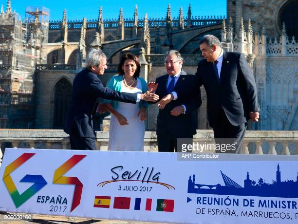 French Ambassador to Spain Yves SaintGeours Portuguese Minister of Interior Constanca Urbano de Sousa Spanish Minister of Interior Juan Ignacio Zoido...