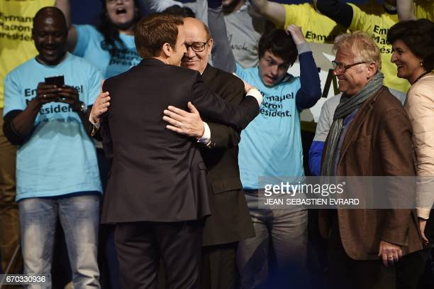 French and German former European parliamentarian and ecologist Daniel CohnBendit Defence Minister JeanYves Le Drian and French presidential election...