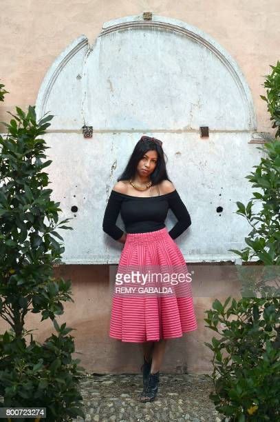 French and Indianborn author Shumona Sinha poses on June 25 2017 in Toulouse during the 13th edition of the 'Marathon of words' event / AFP PHOTO /...