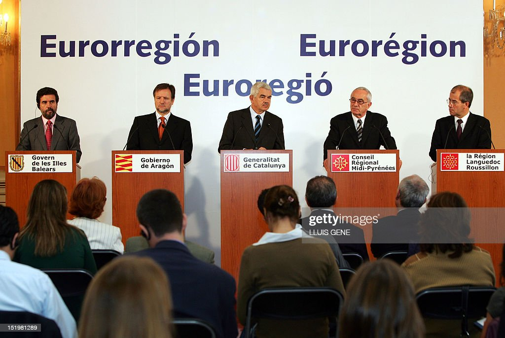 French and Spanish region presidents, from