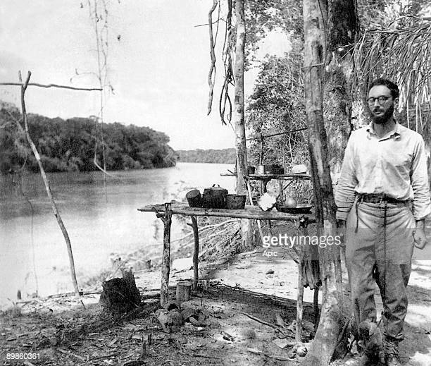 French anthropologist Claude LeviStrauss in Amazonia in Brazil c 1936