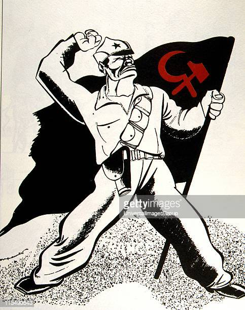 French anticommunist cartoon on the Spanish Civil War 1936