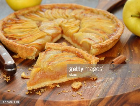 French apple tart : Stock Photo