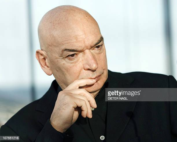 French architect Jean Nouvel gives a press conference prior to the opening of a new Sofitel hotel he designed on December 13 2010 in Vienna AFP PHOTO...