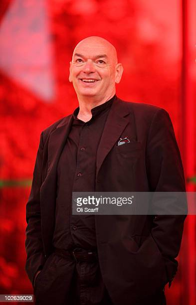 French architect Jean Nouvel poses for photographs in front of the 10th Serpentine Gallery Pavilion which he designed on July 6 2010 in London...