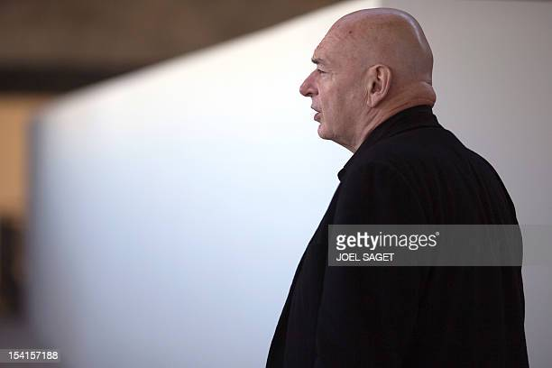 French architect Jean Nouvel poses on October 15 2012 near the Bourget airport outside Paris AFP PHOTO/JOEL SAGET